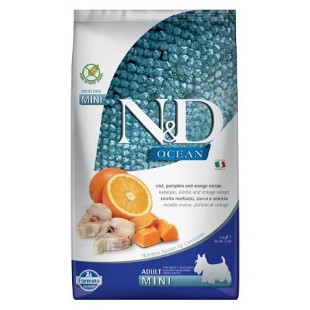 Farmina N&D Bacalao&Naranja con Calabaza para razas MIni