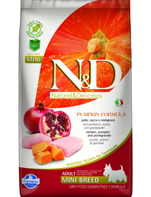 Farmina N&D Sin Cereales Calabaza Adultos - Razas Mini Pollo